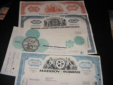 Lot Of ( 4 ) Vintage Stock Certificates and 2 Baseball Cards