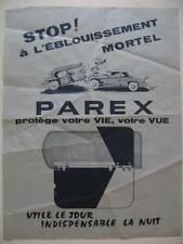 Publicité pare soleil PAREX automobile car voiture wagen accident crash