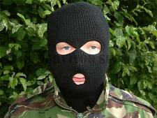 NEW Quality 3 Hole Black BALACLAVA Ski Mask SAS