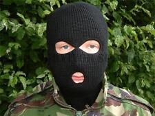 NEW Quality 3 Hole Black BALACLAVA Ski Mask SAS