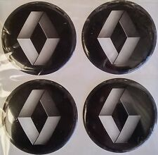 4pcs (silicone) RENAULT Logo Wheel Center Stickers 56mm Replacement Decal Cap