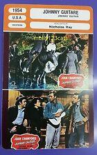 US Western Drama Johnny Guitar Joan Crawford Scott Brady French Film Trade Card