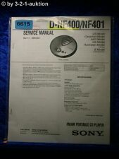 Sony Service Manual D NF400 / NF401 CD Player (#6615)