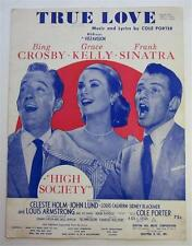 1956 MOVIE HIGH SOCIETY SHEET MUSIC  BING CROSBY FRANK SINATRA GRACE KELLY