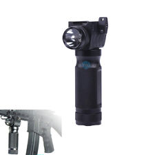 Tactical Fore Grip CREE LED Flashlight For Rifle Picatinny Weaver 20mm Rail