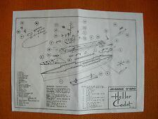 MAQUETTEMODEL : PLAN MONTAGE / ASSEMBLY PLAN: HELLER CADET NAVIRE JEANNE D'ARC