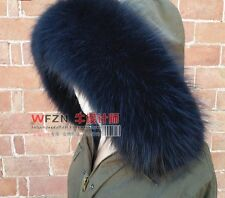 GENUINE REAL LONG FUR SCARF STOLE COLLAR WRAP SHAWL  9 Colors