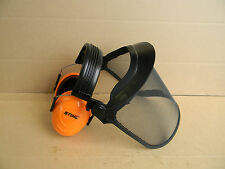 STIHL TRIMMER BRUSH SHIELD PROTECTOR FACE SHIELD EAR PROTECTION OEM STIHL ITEM