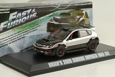 2009 Brians Subaru Impreza WRX STI black  Fast  & and Furious 1:43 Greenlight