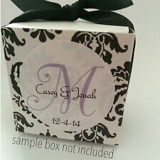 96 (1.67'') Personalized Wedding Favor Labels Stickers Monogram New GLOSSY!