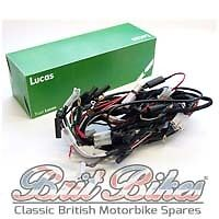 GENUINE LUCAS HEADLAMP WIRING HARNESS TRIUMPH TR6 T120 & BSA A50 A65 - LU5490711