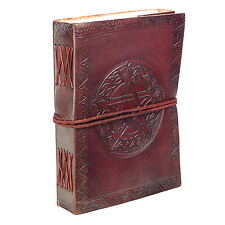 Fair Trade Handmade Eco Celtic Star Design Embossed Leather Journal Notebook