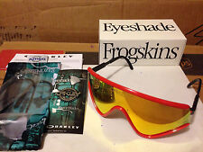 NEW OAKLEY Special Heritage Edition EYESHADE Red / Fire Iridium Lens, OO9259-05