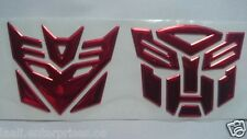 Transformers Autobots & Decepticon 3D soft Sticker Emblem Bike Car Home Office