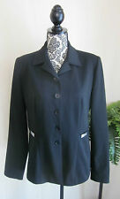 VERTIGO PARIS Women's Black Fitted Lined Blazer Jacket Large