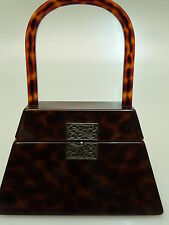 VINTAGE ART DECO TASCHE BAKELIT LUCITE COLLECTIBLE  RARE HANDBAG