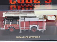 Code 3 Chicago FD Squad 1A Snorkel Fire Truck 1:64 Diecast 12644