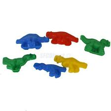 6 Pcs Colorful Plastic Dinosaur Dough Plasticine Mold Kids Play Toy Craft Tool