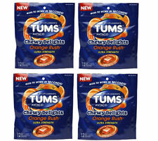 4 PACK Tums Chewy Delights, Orange Rush 32ct 307667491357