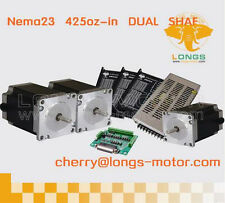 Nema23 dual shaft stepper motor 425oz.in CNC LATHES, CNC PLASMA CUTTERS  3XIS