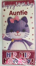 Happy Birthday To A Special Auntie 3d Knitted Woolley Kitten/Cat Effect Card