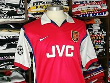 ARSENAL home 1998/00 shirt - BERGKAMP # 10 -Holland-Inter Milan-Ajax-Jersey (M)