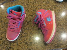 DC Rebound High Top Shoes 7 1/2 pink blue Basketball hi leather skateboard