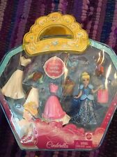 New In Box Disney Princess Cinderella Polly Pocket Set With Case, Jaq, Gus Mice