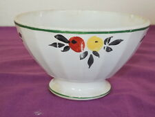 Bol bowl ancien cotelé décor de FRUITS - Good condition Bon état - 14X8cm
