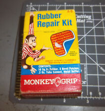 vintage Monkey grip rubber repair kit, 3.5 x 2.25 inch box, A-5, great graphics