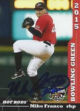 Mike Franco 2015 Bowling Green Hot Rods Signed Card