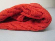 Polo by Ralph Lauren Burnt Orange Hand Knit Multi Ply Thick Cashmere Sweater M