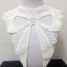 New Lace Embroidered Floral Neckline Neck Collar Trim Clothes Sewing Applique 64