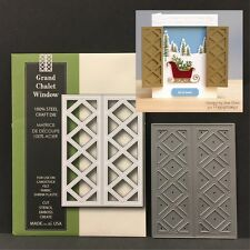 GRAND CHALET WINDOW metal die Poppy Stamps dies lattice,shutters,all occasion