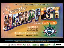 Seattle HEMPFEST® Official 2015 Protestival Event Poster