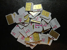 T-Mobile  Micro 3FF Sim Card FOR TEST & BYPASS *INSERT SIM iPhone 4/4S ,S3/S4/S5