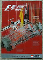 SPANISH GRAND PRIX FORMULA ONE 2000 F1 Barcelona Official Programme