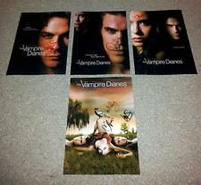"THE VAMPIRE DIARIES SET OF 4 PP SIGNED 12""X8"" POSTER PAUL WESLEY IAN SOMERHALDER"