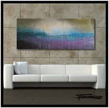 HUGE MODERN ABSTRACT PAINTING CANVAS WALL ART 60x24 Large US ELOISExxx