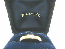 ESTATE VINTAGE 18K TIFFANY & CO 1999 YELLOW GOLD BAND RING WEIGHS 6.9 GRAMS 8