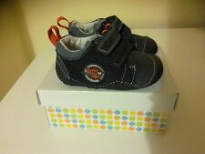 CLARKS INFANT BOYS NAVY TINY WING FIRST SHOES LEATHER