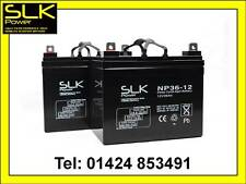 2 x 12V 36AH AGM/GEL MOBILITY SCOOTER BATTERIES (UPGRADE 30AH 32 33AH 34 35AH)