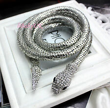 Sexy Snake Necklace or Skinny Belt Waist Band Crystal Hot Womens Ladies Fashion