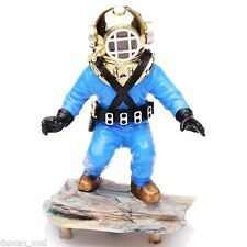 Kneeling Diver Action-Air Aquarium Ornament Fish Tank Decoration