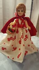 Vintage red riding hood doll