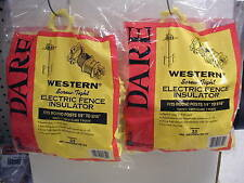 Dare - Western Electric Fence Insulators-Fiberglass or Steel Posts - ( 2 )25pks.
