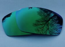 NEW POLARIZED GREEN CUSTOM MIRRORED REPLACEMENT OAKLEY SQUARE WHISKER LENSES