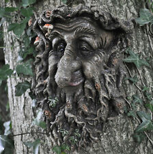 Man Of Forest Green Man Tree Face Leaf Plaque Wall Garden Ornament NEW 39676