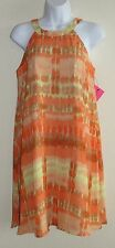 New Womens Betsey Johnson Dress Sz 4 Orange Yellow Sleeveless