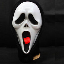 Scary Movie Ghost Face With Tongue Spoof Scream Mask For Halloween Party